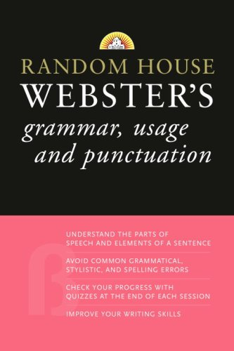 Random House Webster's Grammar, Usage, and Punctuation   2008 (Large Type) edition cover