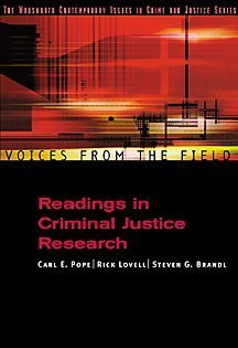 Voices from the Field Readings in Criminal Justice Research  2001 9780534563769 Front Cover
