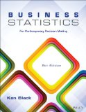 Business Statistics For Contemporary Decision Making 8th 2014 edition cover