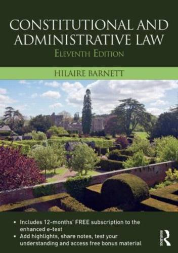 Constitutional and Administrative Law  11th 2016 (Revised) 9781138814769 Front Cover
