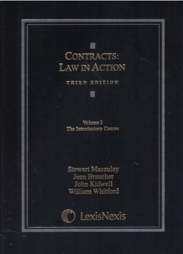 Contracts: Law in Action; the Introductory Course 3rd 2010 9781422481769 Front Cover