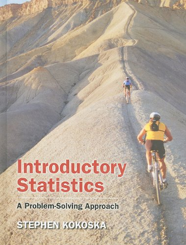 Introductory Statistics A Problem-Solving Approach  2011 9781429239769 Front Cover