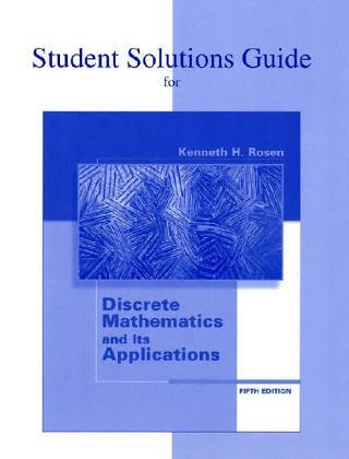Discrete Mathematics and Its Applications  5th 2003 9780072474770 Front Cover