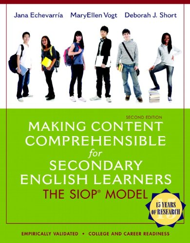 Making Content Comprehensible for Secondary English Learners The SIOP Model 2nd 2014 edition cover