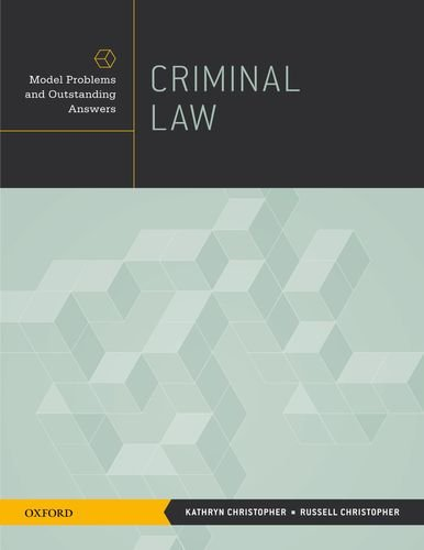 Criminal Law Model Problems and Outstanding Answers  2012 edition cover