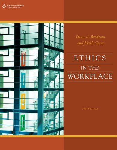 Ethics in the Workplace  3rd 2012 edition cover
