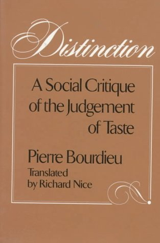 Distinction A Social Critique of the Judgement of Taste  1984 edition cover