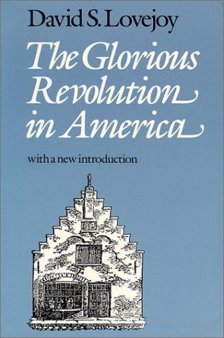 Glorious Revolution in America  Reprint  edition cover
