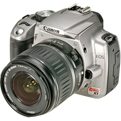 Canon Rebel XT DSLR Camera with EF-S 18-55mm f/3.5-5.6 Lens (Silver) (OLD MODEL) product image