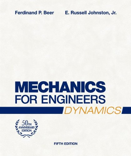 Mechanics for Engineers - Dynamics  5th 2008 (Revised) edition cover