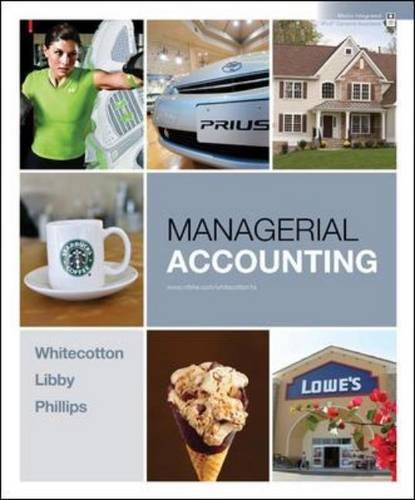 Managerial Accounting   2011 edition cover