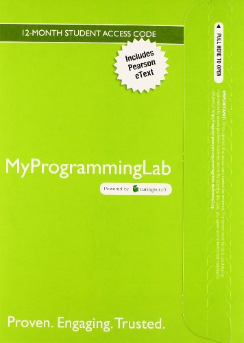 MyProgrammingLab with Pearson EText -- Access Card -- Starting Out with Java Early Objects 5th 2015 9780133831771 Front Cover