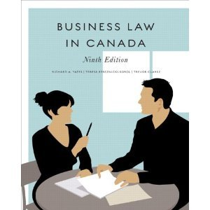 Business Law in Canada  9th 2011 9780135051771 Front Cover