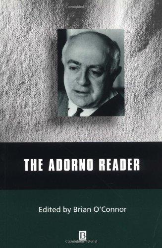Adorno Reader   2000 edition cover