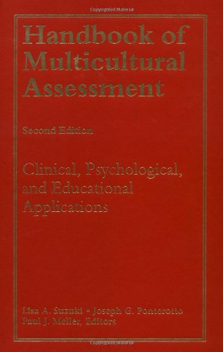Handbook of Multicultural Assessment Clinical, Psychological, and Educational Applications 2nd 2001 (Revised) edition cover