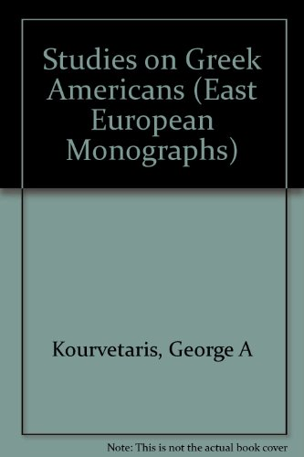Studies on Greek Americans   1997 9780880333771 Front Cover