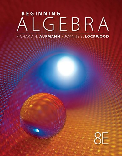 Beginning Algebra + Enhanced Webassign Single-term Loe Printed Access Card for Developmental Math:   2013 9781285483771 Front Cover