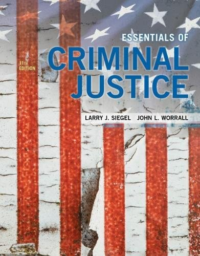 Essentials of Criminal Justice:   2018 9781337557771 Front Cover