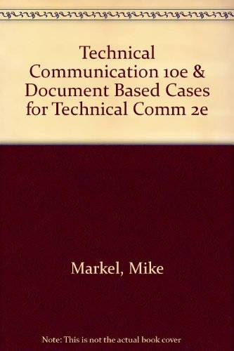 Technical Communication 10e and Document Based Cases for Technical Comm 2e  10th 2013 edition cover