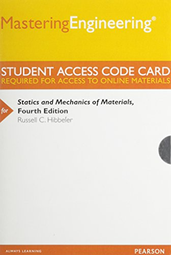 MasteringEngineering -- Standalone Access Card -- for Statics and Mechanics of Materials  4th 2014 9780133454772 Front Cover