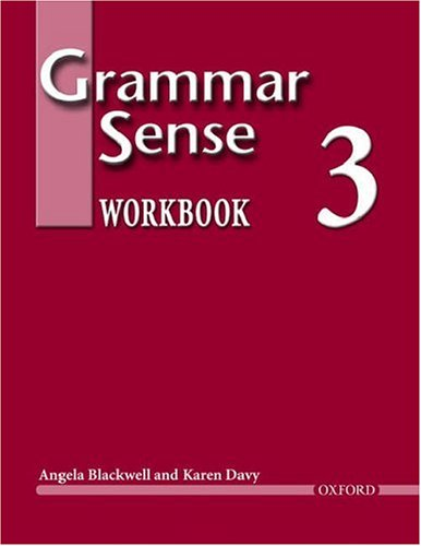 Grammar Sense, Level 3  Workbook  9780194365772 Front Cover