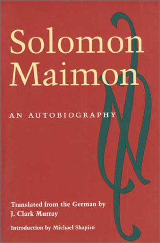 Solomon Maimon An Autobiography  2001 edition cover