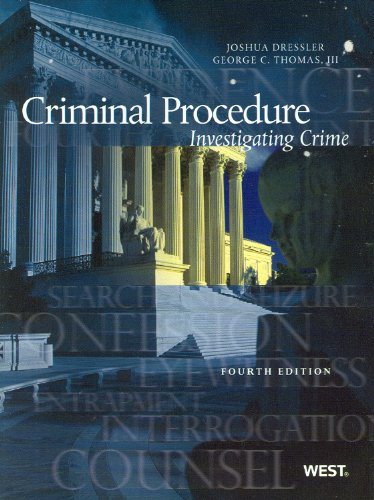 Criminal Procedure Investigating Crime, 4th 4th 2010 (Revised) edition cover