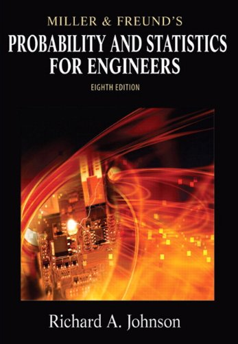 Miller and Freund's Probability and Statistics for Engineers  8th 2011 edition cover