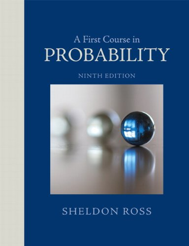 A First Course in Probability:   2012 edition cover