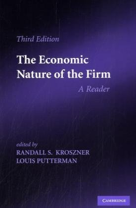 Economic Nature of the Firm A Reader 3rd 2009 edition cover
