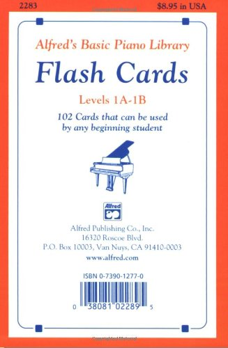 Alfred's Basic Piano Course Flash Cards,  Level 1A-1B   1982 edition cover