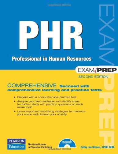 PHR Exam Prep Professional in Human Resources 2nd 2008 (Revised) edition cover