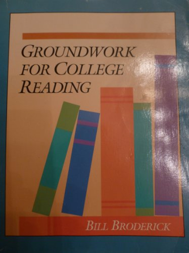 Groundwork for College Reading N/A 9780944210772 Front Cover