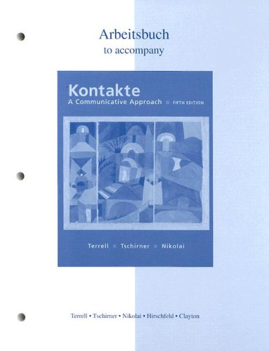 Kontakte A Communicative Approach 5th 2005 (Revised) edition cover