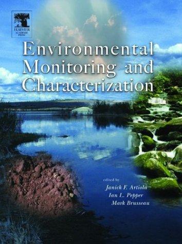 Environmental Monitoring and Characterization   2003 edition cover
