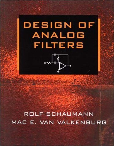 Design of Analog Filters  2nd 2001 (Reprint) edition cover