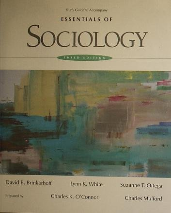 Essentials of Sociology  3rd 1995 (Student Manual, Study Guide, etc.) 9780314049773 Front Cover