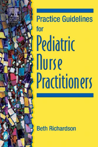 Practice Guidelines for Pediatric Nurse Practitioners   2005 edition cover
