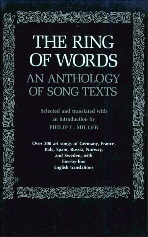Ring of Words An Anthology of Song Texts  1973 (Reprint) edition cover