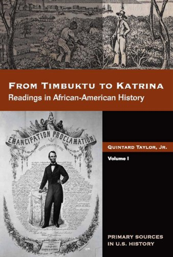 From Timbuktu to Katrina Readings in African-American History  2008 edition cover