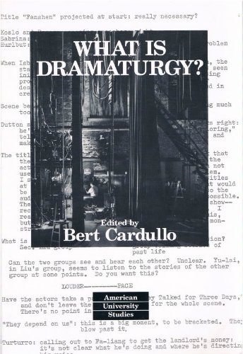 What Is Dramaturgy?  3rd 2005 (Revised) edition cover
