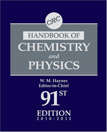 Chemistry and Physics  91st 2010 (Revised) 9781439820773 Front Cover