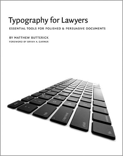 Typography for Lawyers   2010 edition cover