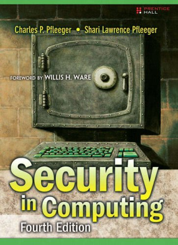 Security in Computing  4th 2007 (Revised) edition cover