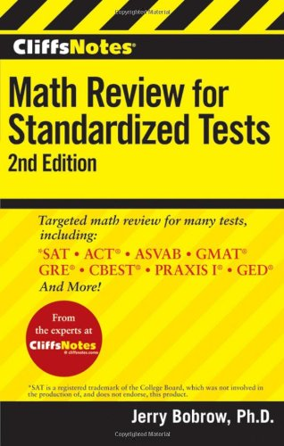 Math Review for Standardized Tests  2nd 2010 edition cover