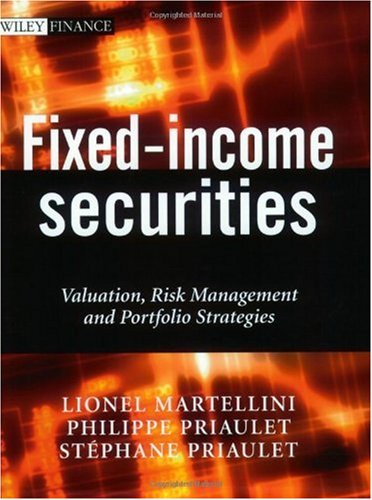 Fixed-Income Securities Valuation, Risk Management and Portfolio Strategies  2003 edition cover