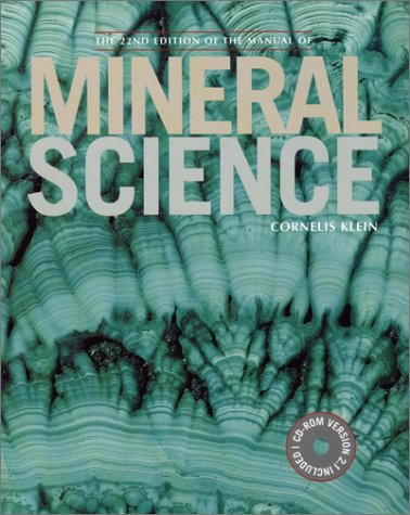 Manual of Mineral Science  22nd 2002 (Revised) edition cover