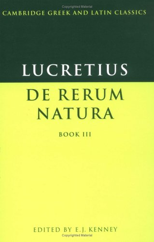 Lucretius De Rerum Natura N/A edition cover