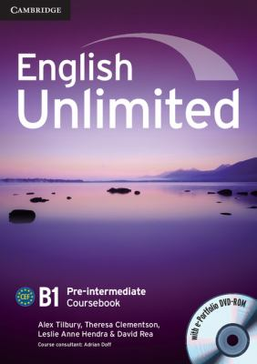 English Unlimited Pre-Intermediate Coursebook with E-Portfolio   2010 9780521697774 Front Cover