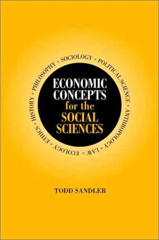 Economic Concepts for the Social Sciences   2001 9780521796774 Front Cover